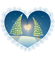 love trees vector image vector image