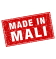 Mali red square grunge made in stamp vector image vector image