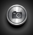 metallic camera icon vector image