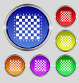 Modern Chess board icon sign Round symbol on vector image vector image