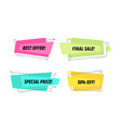 modern sale tags set price label text shape vector image vector image