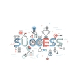 Modern thin line design concept for success vector image vector image