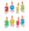 new year 2013 candles vector image