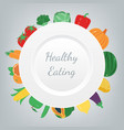 organic food fruits and vegetables healthy vector image vector image
