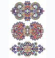 ornamental floral adornment vector image vector image