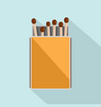pack matches icon flat style vector image vector image