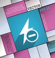 Photo flash icon symbol Flat modern web design vector image