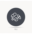 Pills icon Medicine tablets or drugs sign vector image