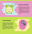psychotherapy and insomnia treatment flyer vector image