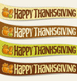ribbons for thanksgiving day vector image vector image