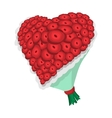 Rose flowers heart cartoon icon vector image