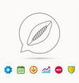 rugby ball icon american football sign vector image vector image