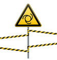 safety sign caution - danger automatic start of vector image vector image