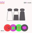 salt or pepper shakers - set vector image vector image
