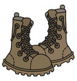 sand high lacing military shoes vector image vector image