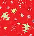 Seamless Christmas pattern The pattern is painted vector image vector image