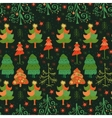 seamless pattern of christmas tree vector image