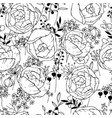 seamless pattern with black and white contour vector image vector image