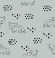 seamless pattern with foxes decorative background vector image