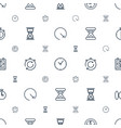 second icons pattern seamless white background vector image vector image