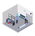 security room in airport railway or bus station vector image vector image