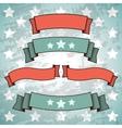 Set of Retro Patriotic Banners vector image vector image