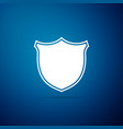 shield icon isolated on blue background guard vector image vector image
