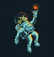 space frog astronaut vector image