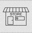 store icon in flat style shop symbol vector image vector image