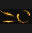 tails of sparkle stardust in golden colors with vector image