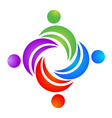 Teamwork leader logo vector image vector image