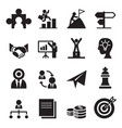 the way to success icons set vector image vector image