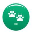 tiger step icon green vector image vector image