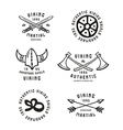 Viking emblems in hand drawn style vector image