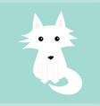 white fox polar wolf cute cartoon baby character