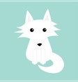 white fox polar wolf cute cartoon bacharacter vector image