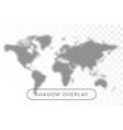 world map shadow realistic grey decorative vector image vector image