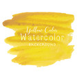 yellow abstract watercolor background vector image vector image
