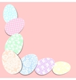 Decoration with easter eggs vector image