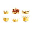 realistic crown vector image