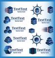 set of abstract geometric logos vector image