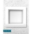 White frames on a brick wall for your design vector image