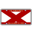 alabama license plate vector image vector image