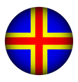 Aland Islands flag button vector image vector image