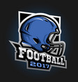 american football helmet games 2017 emblem vector image vector image