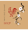 Background for 2017 Chinese new year vector image vector image