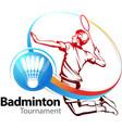 badminton symbol vector image