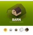 Barn icon in different style vector image vector image