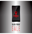 Black Friday sale promo text vector image vector image