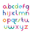 bright font with the mixed color vector image vector image